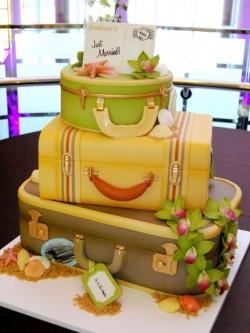 Hawaiian Honeymoon Wedding Cake