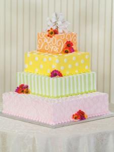 Festive and Fun Wedding Cake Publix