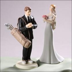 golf couple cake topper
