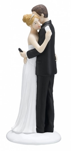 Texting-Bride-and-Groom-Figurine