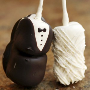 bride and groom marshmallows