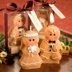 gingerbread couple candles
