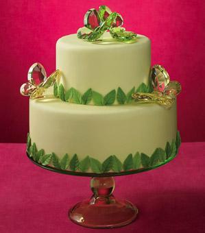 emerald green wedding cakes