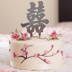 happy cake topper