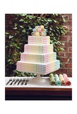 dots wedding cake