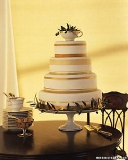 gold band cake