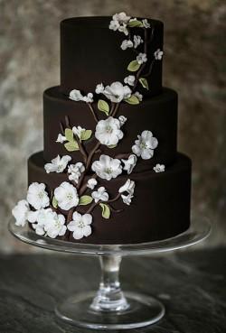 brown wedding cake