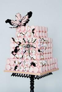 pink macron cake