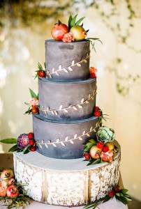 dark gray wedding cake