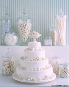white candy cake