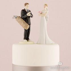 golf cake topper