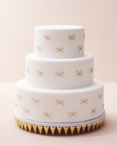 cake with bows