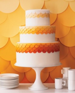 orange wedding cake