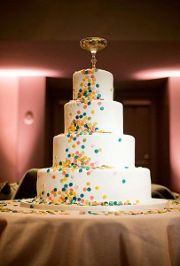 cake with candy dots