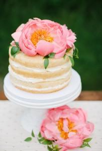 cake with peony