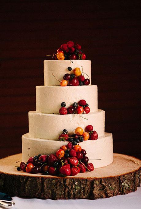Wedding Cake With Fresh Fruit A Wedding Cake Blog