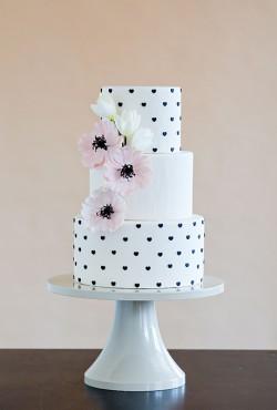 black-and-white-dot-cake