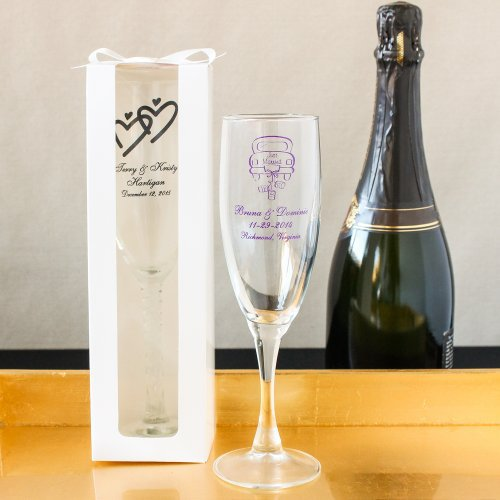 Fun Wedding Favor Personalized Champagne Flutes