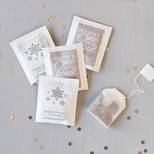 Fun Wedding Favor Personalized Tea Bags