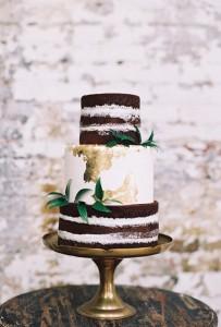 white and choc naked cake