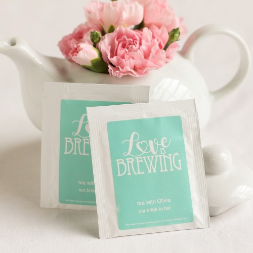 Fun Wedding Favor Personalized Tea Bags A Wedding Cake Blog