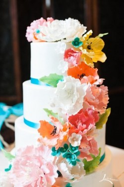 colorful spring cake