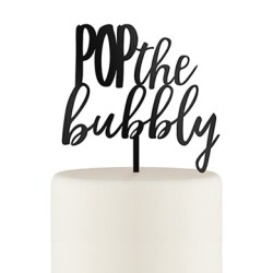 bubbly cake topper