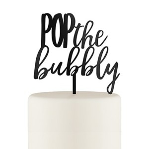 bubbly cake topper