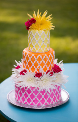 colorful summer cake