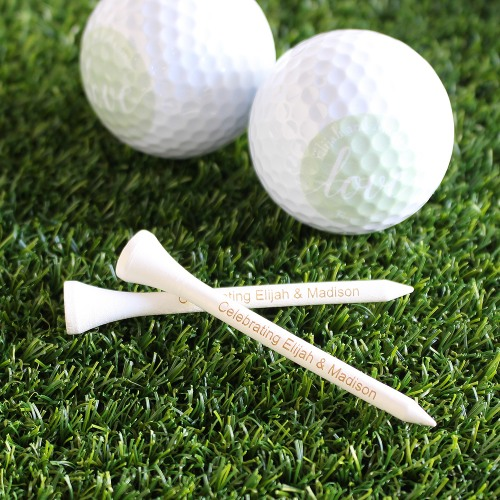 Fun Wedding Favor Personalized Golf Tees