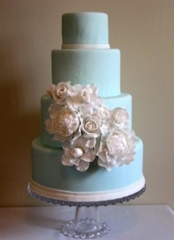 light blue cake