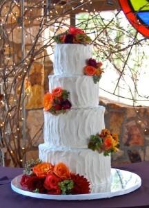fall white cake