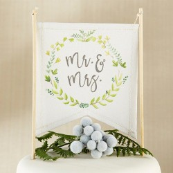 canvas cake topper